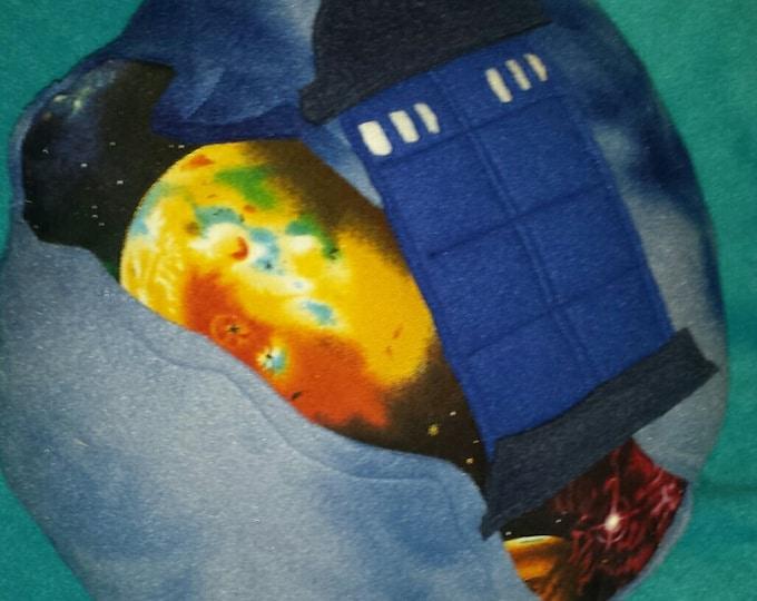 The Blue Box fleece pillow