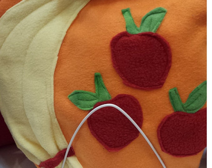 Apple Cutie cross body fleece Bag