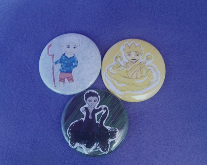 Rise of the Guradian Chibi  themed buttons