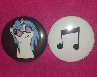 Vinyl Notes Buttons