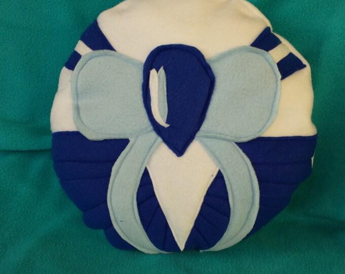Magic Girls: Blue fleece pillow