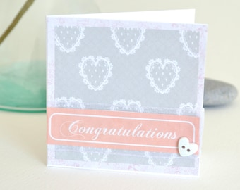 Greeting cards handmade etsy congratulations greetings card handmade for an anniversary wedding birthday m4hsunfo