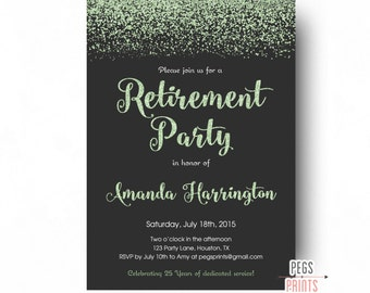 retirement party invitation shabby chic retirement party etsy