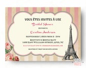 paris theme bridal shower invitation printable paris bridal shower invitation parisian bridal shower invitation paris bridal invites