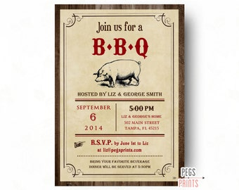 backyard cookout invitation etsy