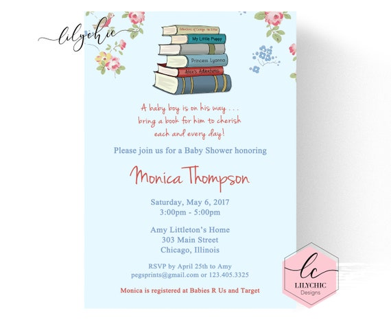 Storybook Baby Shower Invitation Printable Book Baby Shower