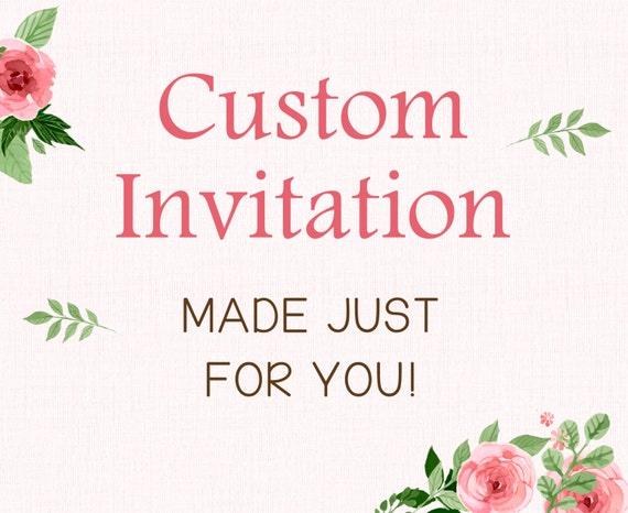 Custom Invitation Design Printable Etsy