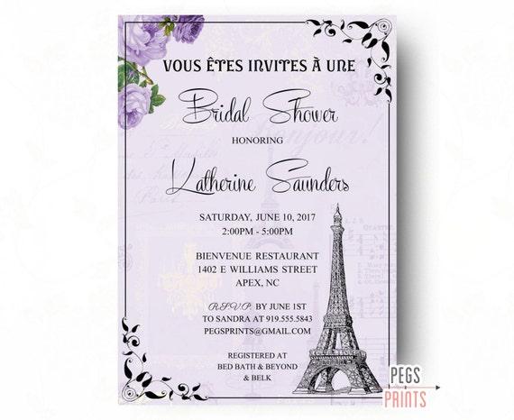 Paris bridal shower invites printable parisian bridal shower etsy image 0 filmwisefo