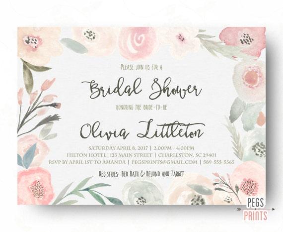 Spring bridal shower invitation floral bridal shower etsy image 0 filmwisefo