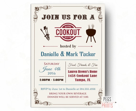 cookout invitation summer cookout invitation printable bbq