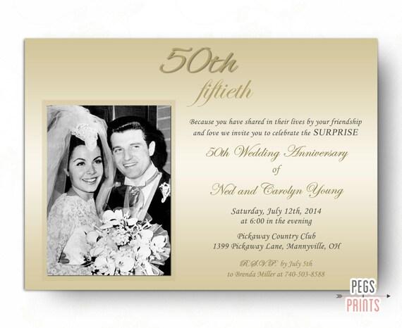 Invitation Surprise Danniversaire De Mariage Invitation Surprise De 50e Anniversaire Imprimable Invitations Danniversaire De Mariage De Surprise