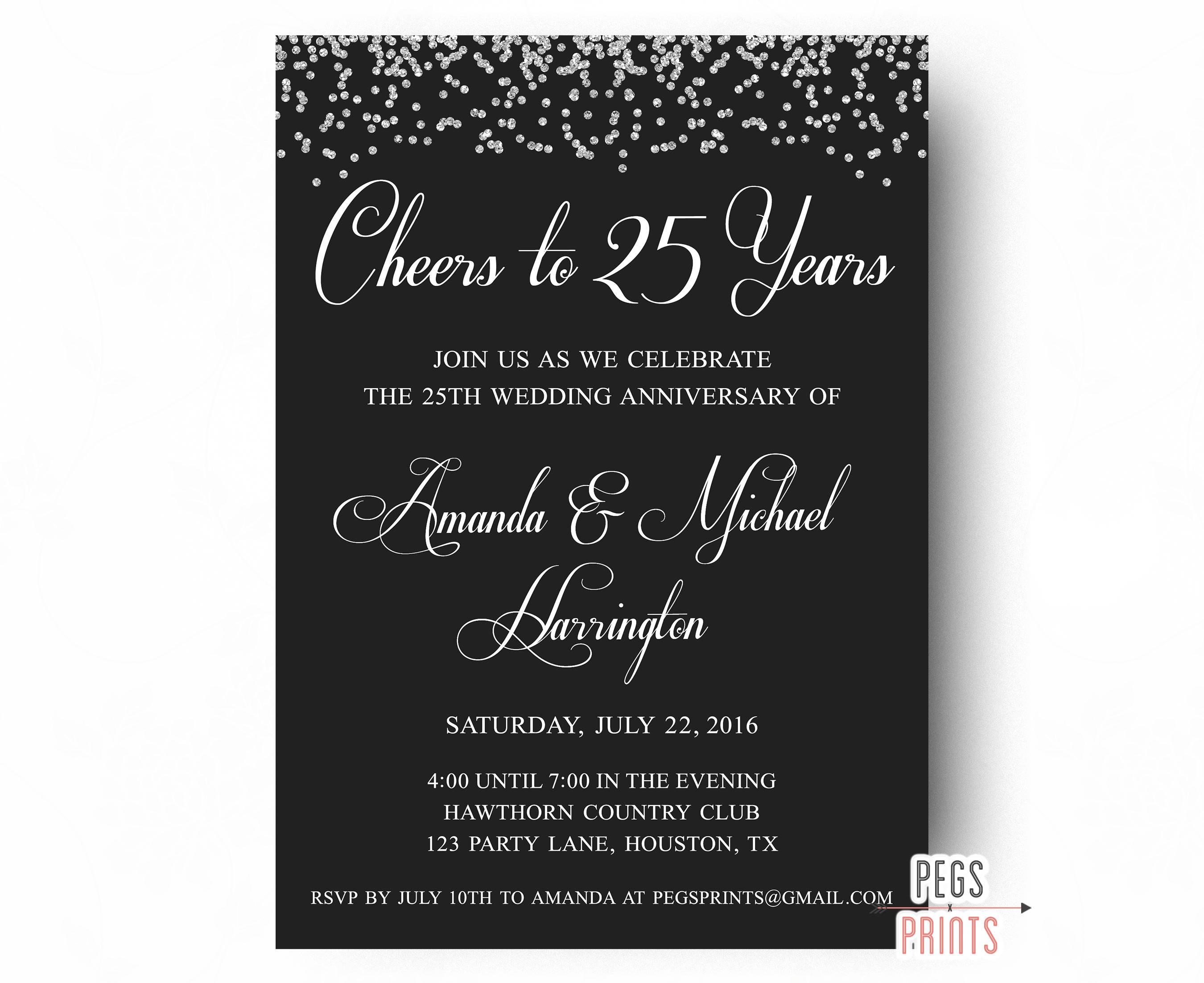 25th wedding anniversary invitations printable 25th ampliar solutioingenieria Gallery