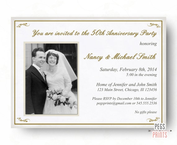 25th Wedding Invitations: 50th Anniversary Invitation 50th Wedding Anniversary