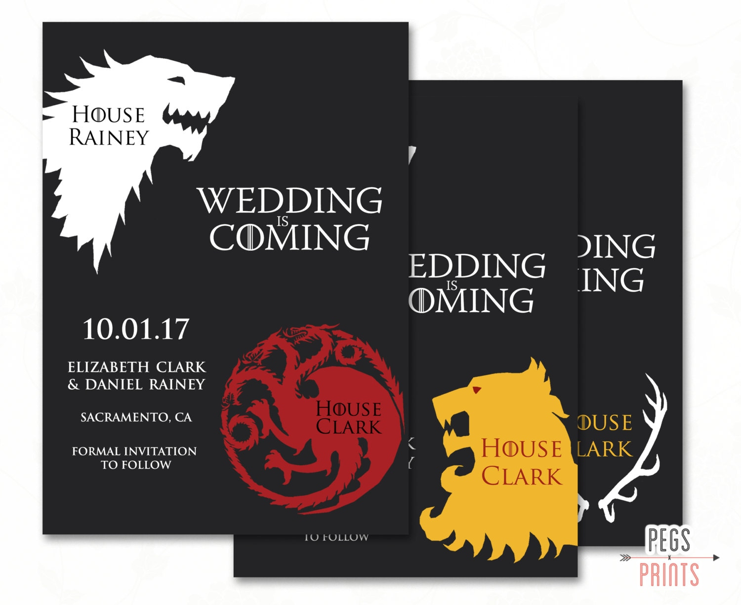 Geek Save the Date Game of Thrones Save the Date Printable | Etsy