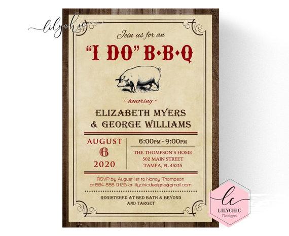 i do bbq couples shower invitation printable i do barbeque