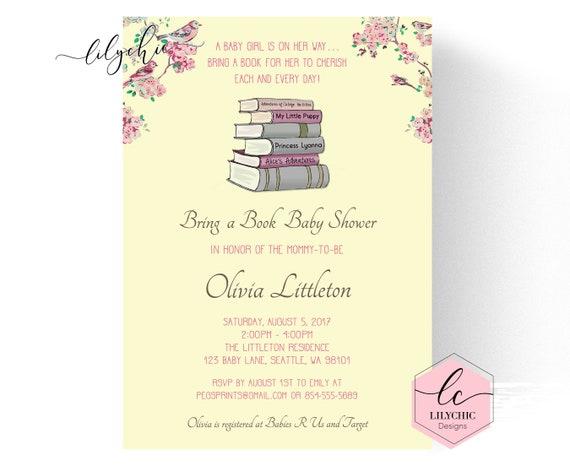 Book Baby Shower Invitation Storybook Baby Shower Invitation
