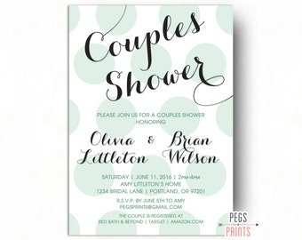 Printable Couples Shower Invitation - Couples Wedding Shower Invitation - His and Hers Shower Invitation - Couples Wedding Shower Invite