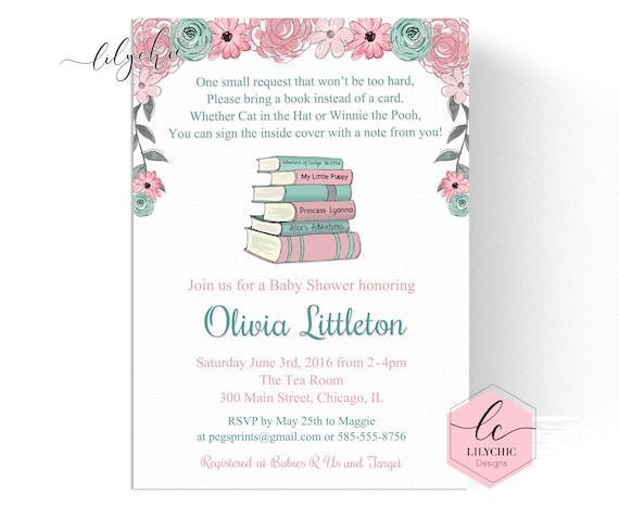 Storybook Baby Shower Invitation Book Baby Shower Invitation