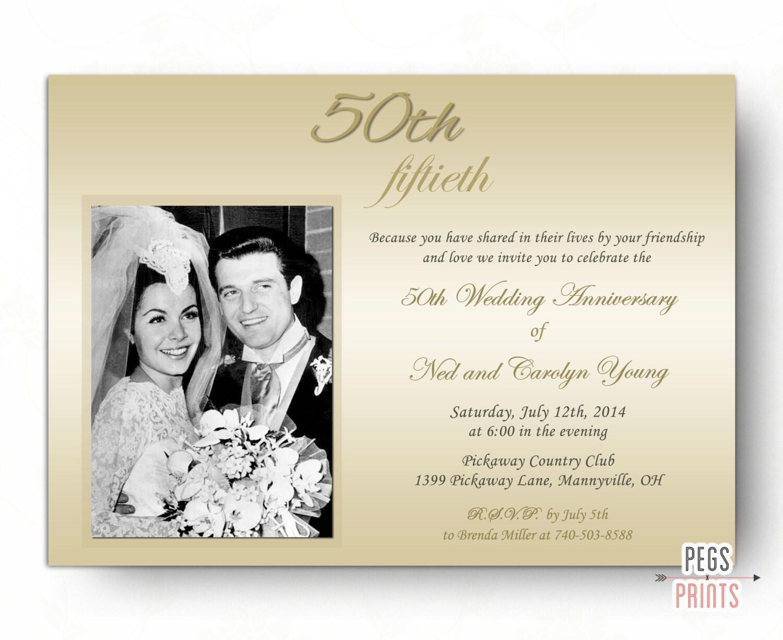 50th wedding anniversary invitations 50th anniversary etsy