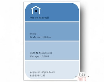 Paint Swatch Moving Announcement Card Printable - Paint Swatch Moving Cards - New Address Announcement - New Address Cards - New Home Card