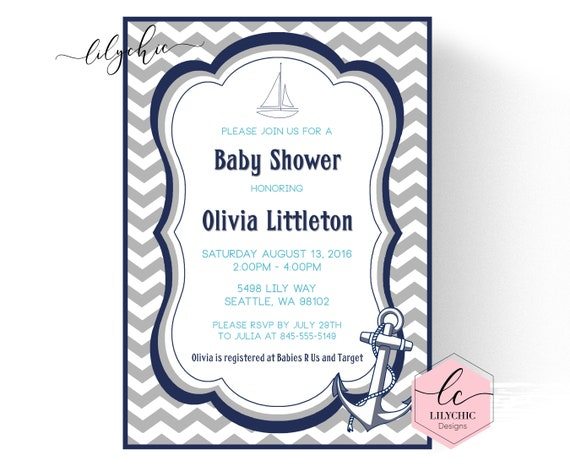 Nautical baby shower invitation boy printable nautical baby shower il570xn filmwisefo