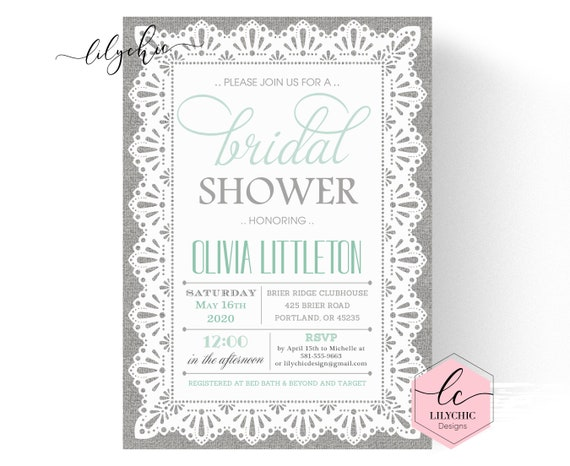 57c259eee98b1 Burlap and Lace Bridal Shower Invitation Burlap and Lace