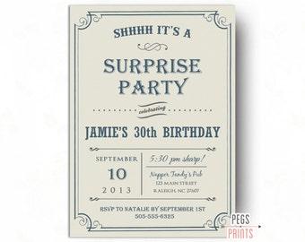 Surprise 60th birthday invitation man surprise birthday party adult surprise birthday party invites printable surprise birthday invitation for men surprise birthday party invitation for men filmwisefo