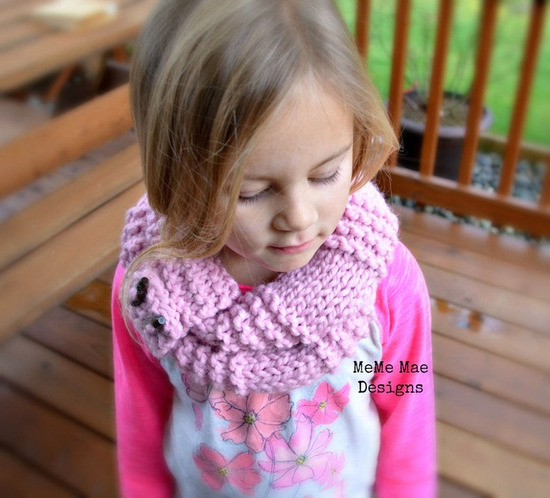 Knitting Pattern Chunky Scarf The Striped Infinity Scarf Etsy