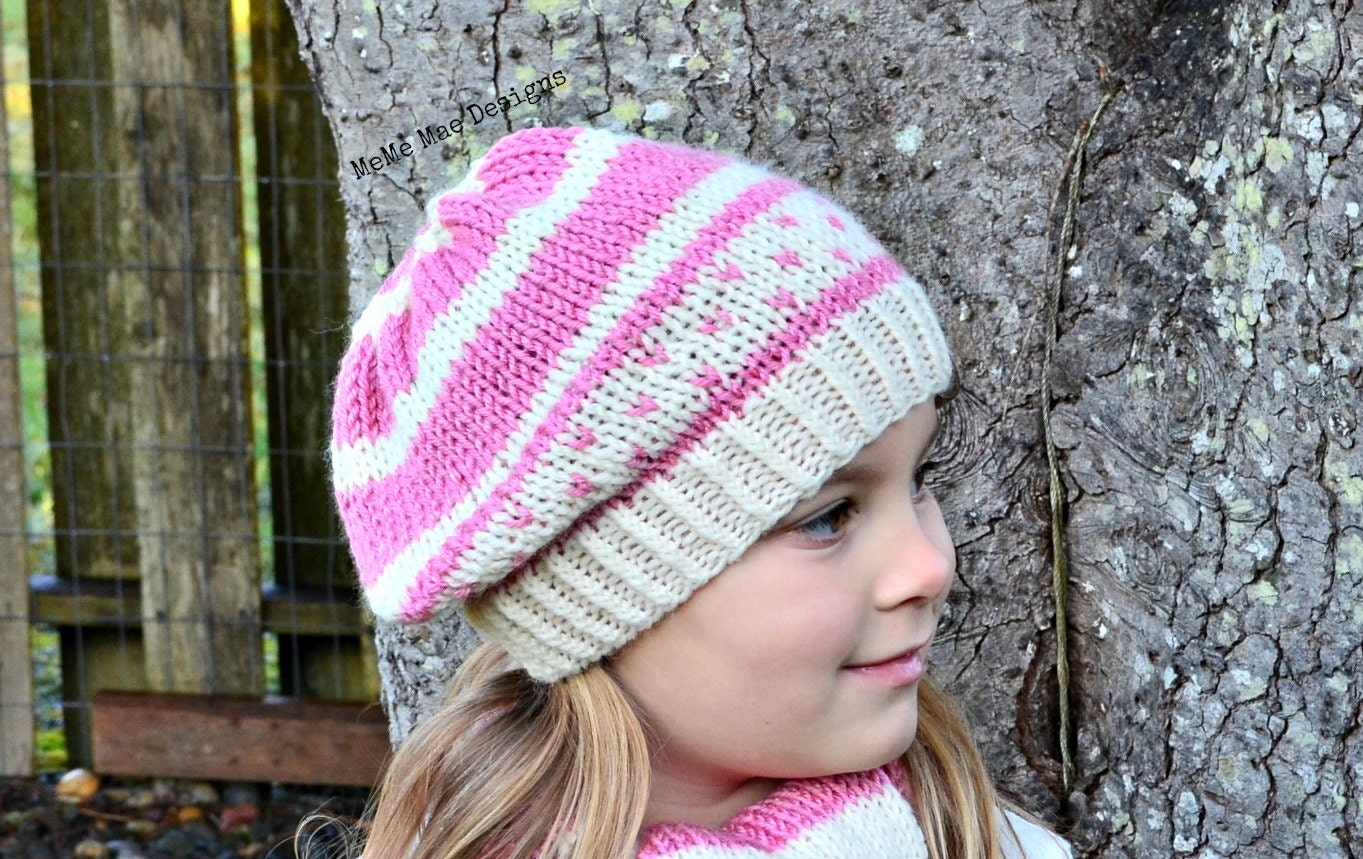 KNITTING PATTERN Hat Pattern Striped Hat Wrapped Up in You ...