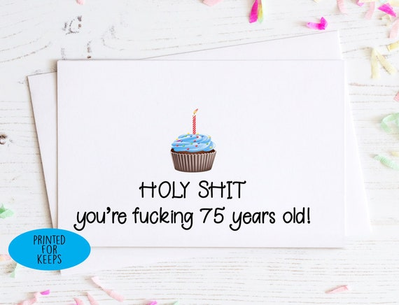 Holy Shit Youre 80 Years Old Birthday Card