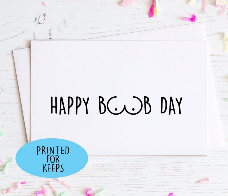 Congrats on your new boobs Plastic Surgery Day Adult Humor New Boobs Happy Boob Day Funny Card