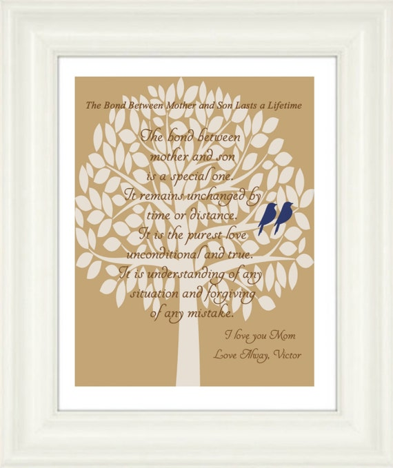 Items similar to Mom gift-Mom print- The Bond Between Mother