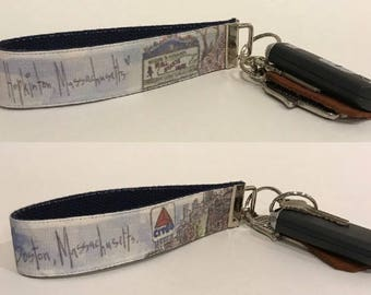 Marathon Themed Hopkinton/Boston Key Fob