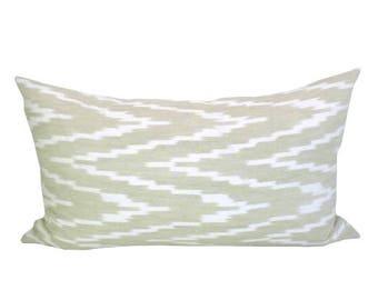 Kasari Ikat lumbar pillow cover in Sand
