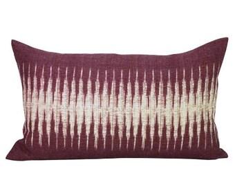 Ikat lumbar pillow cover in Pasha