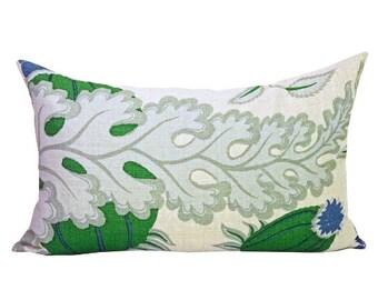 Carnival lumbar pillow cover in Green