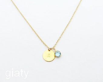 March birthstone etsy initial with march birthstone bridesmaid necklace initial necklace aquamarine necklace bridesmaid necklace aquamarine birthstone gift aloadofball Choice Image