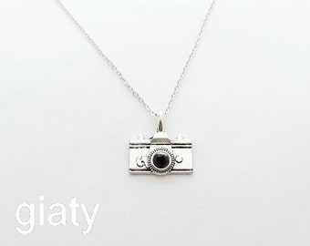 Camera Necklace, Simple Necklace, Charm Necklace, Small Necklace, Dainty Necklace, Bridesmaid Necklace, Bridesmaid Gift, Mother's Day Gift