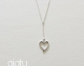 Silver Heart Necklace, Heart Necklace, Small Necklace, Everyday Necklace, Simple Necklace, Bff Necklace, Charm Necklace, Mother's Day Gift