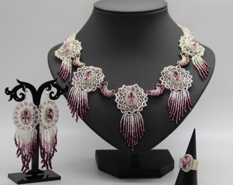"""Set """"1000 + 1 Night"""" - (Set includes: necklace, earrings, ring)"""