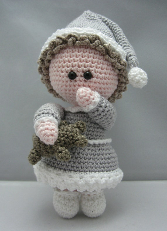 Crochet Sleepy Doll Pattern Sleepyhead Video Tutorial | Cute ... | 789x570