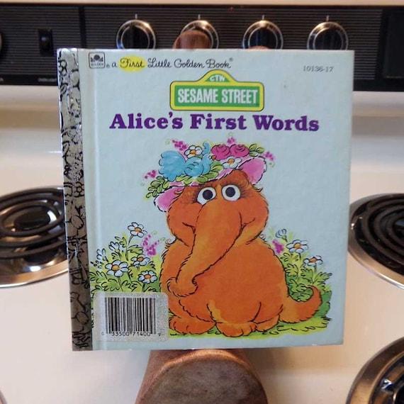 Sesame Street box and book, Big Bird game box, Big Bird storage box, Big  Bird Sesame Street box, Alice's First Words Little Golden Book