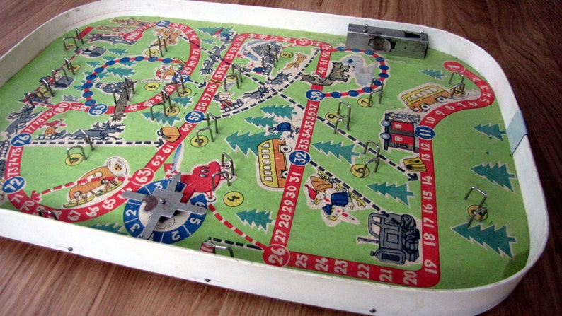 Incredible Soviet Pinball Game Board From 80S Vintage Pinball Game Soviet Toy Billiard Soviet Board Game Winter Traffic Game Interior Design Ideas Gentotryabchikinfo