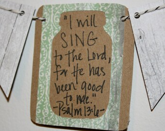 Mini Scripture Bunting (Psalm 13:6)