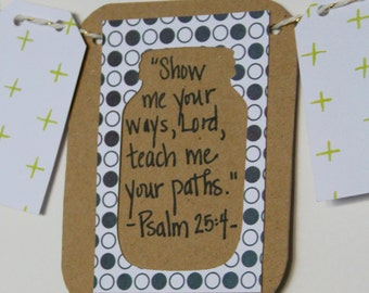 Psalm 25:4 Mini Scripture Bunting