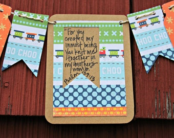 Psalm 139:13 Child Mini Scripture Bunting