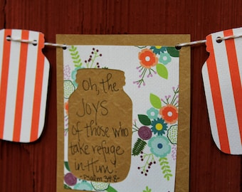 Psalm 34:8 Mini Scripture Bunting