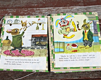 The Bunny Book Storybook Bunting (VINTAGE)