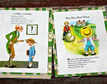 Vintage Boy Nursery Rhymes Storybook Bunting