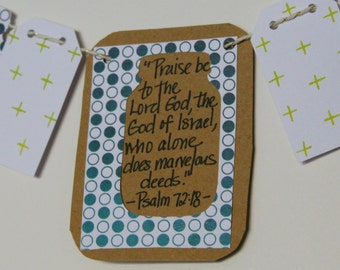 Psalm 72:18 Mini Scripture Bunting